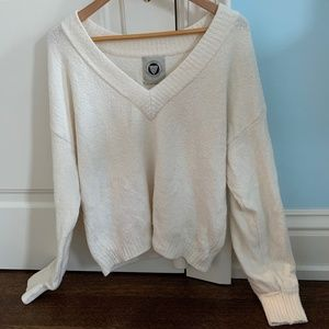 Urban Outfitters Fuzzy V Neck Sweater